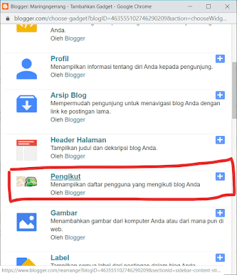 Membuat Halaman Statis Followers di Blogger