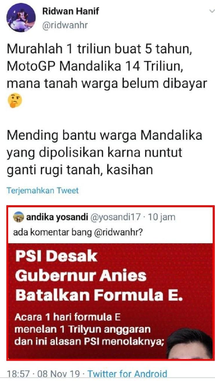 Sok-sokan Tolak Formula E Jakarta, PSI Ditampol Pakar Otomotif