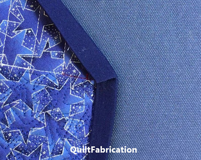 binding fold on back of quilt