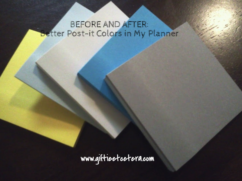 post-it, colors, planner