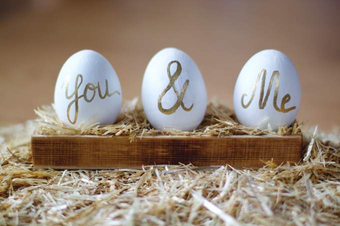 Celebrar en pareja. Videotutorial huevos de Pascua