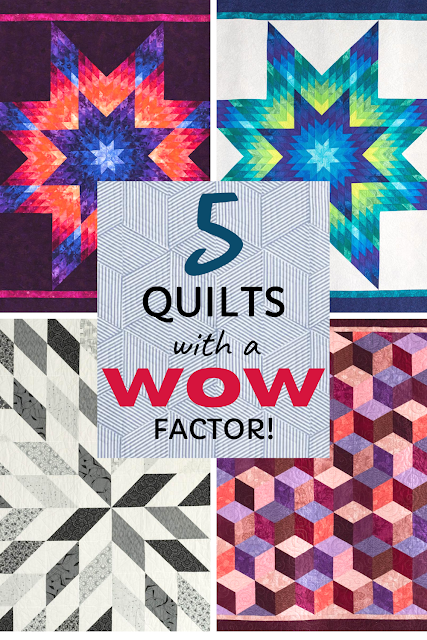 Five quilt kits with a WOW factor! Find all the kits on Bluprint!