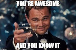 Leonardo-DiCaprio-cheers-awesome-meme