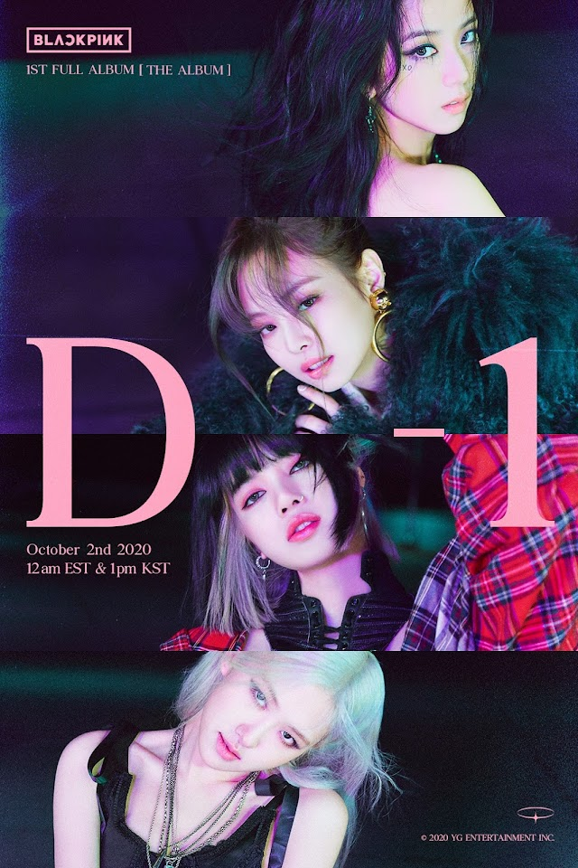 Knetz crazily in love with BLACKPINK's various charms in the new 'D-1' Poster for the upcoming comeback 'THE ALBUM'!