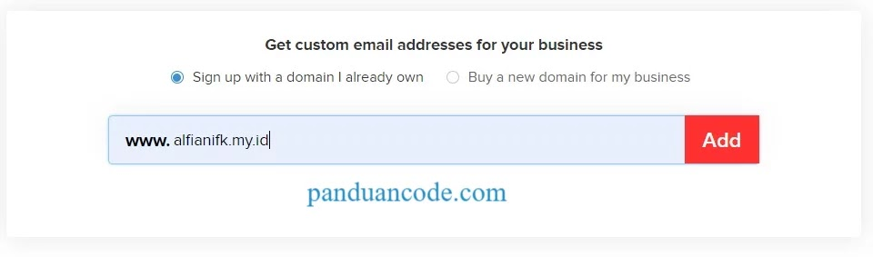 Gunakan Domain Anda