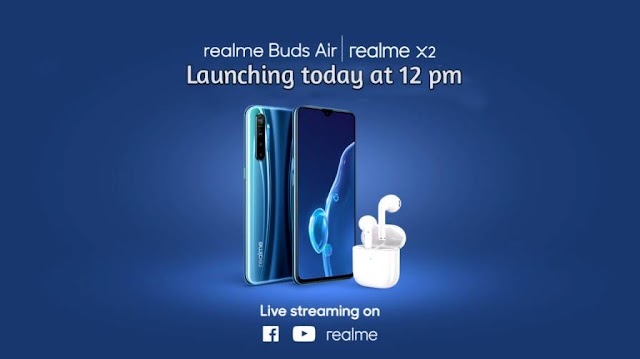 Realme X2 Smartphone and Realme Buds Air today Launch in India: Watch Livestream.