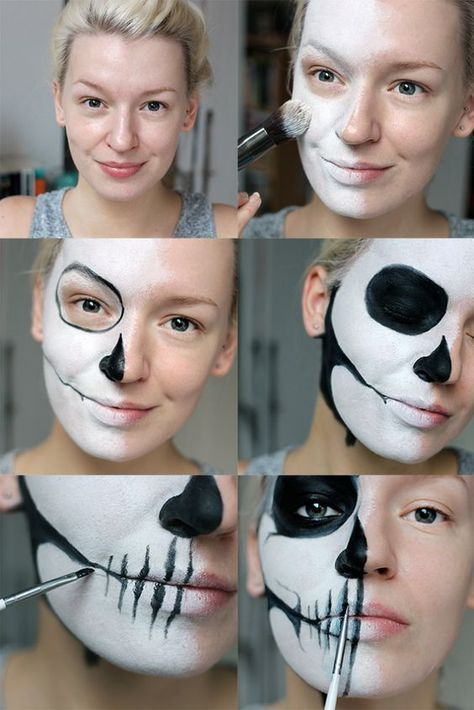 Maquiagem rápida e básica para o Halloween
