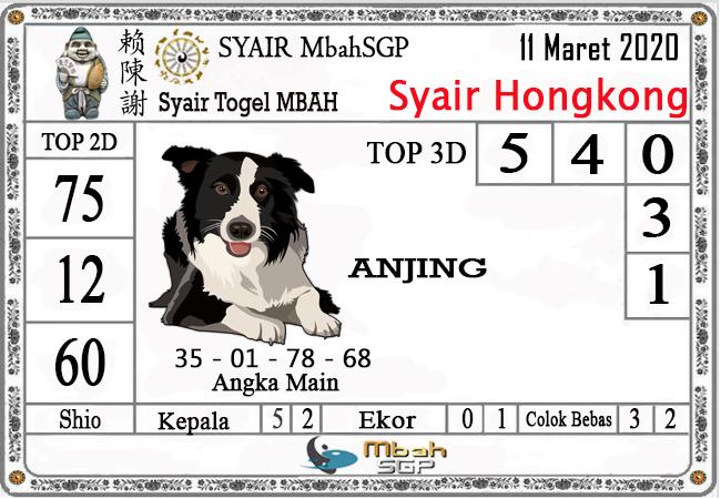 Prediksi Togel Hongkong Malam Ini Rabu 11 Maret 2020 - Syair Mbah HK