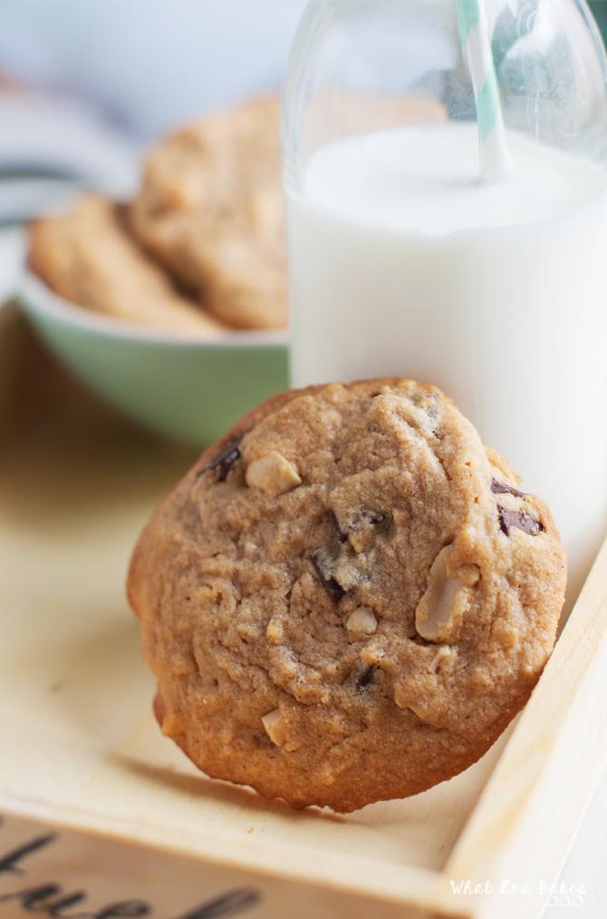 Cookies de cacahuete, chocolate y canela
