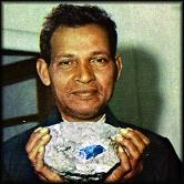 Image showing the tailor and gold prospecter Manuel d'Souza who made the discovery of the gemstone tanzanite in the 1960s