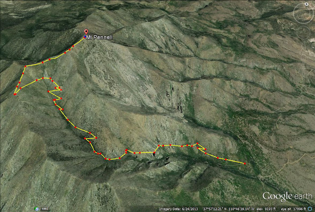 Mt. Pennell trail map