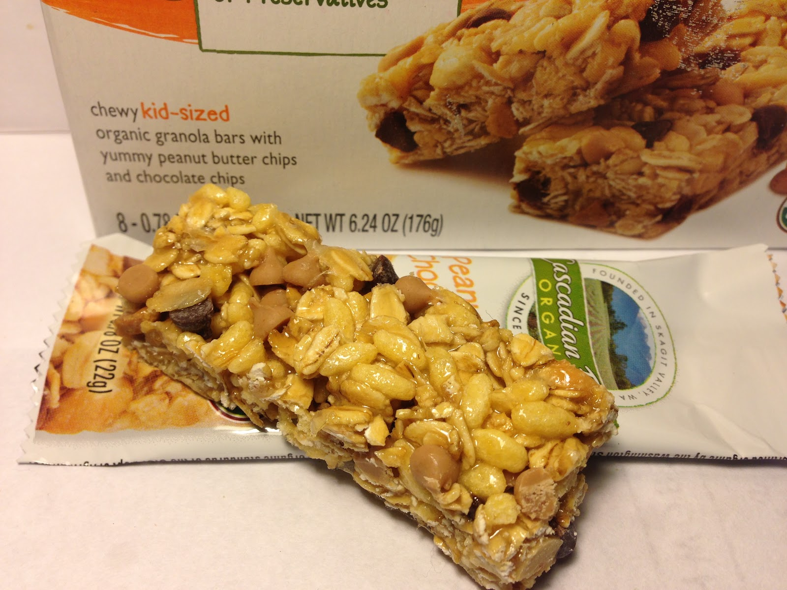 Cascadian Farm Organic Chewy Granola Bar Chocolate Chip Calories