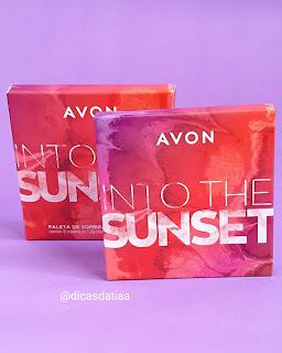 Paleta de Sombras para os olhos Into The Sunset Avon resenha dicas da tia