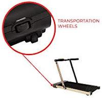 Transportation wheels, 2 sets, on Sunny Health & Fitness Asuna Slim 8730 8730G Space Saving Low Profile Folding Motorized Treadmill, image