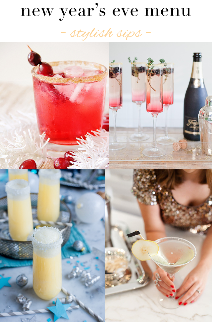 New Year's Eve Menu: Stylish Sips // A Style Caddy