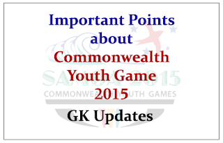 Points to Know about 2015 Commonwealth Youth Game