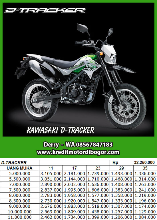 Daftar Harga Kredit Kawasaki D-Tracker di Bogor