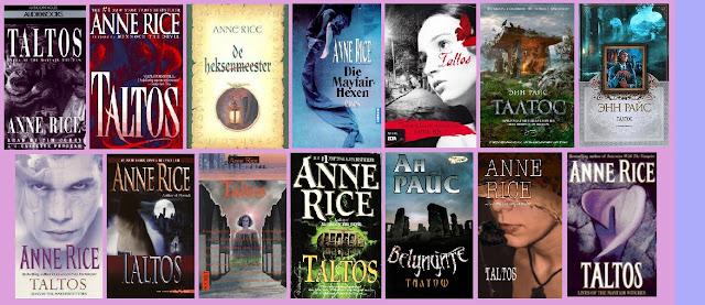 portadas de la novela de fantasía Taltos, de Anne Rice