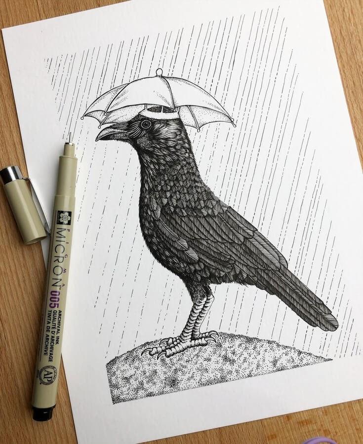 06-Crows-are-very-smart-birds-Diane-Swartzberg-www-designstack-co
