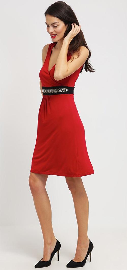 Robe courte de soirée rouge Anna Field