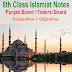 8th Class Islamic Studies Chapter 1 Alquran Karim MCQs
