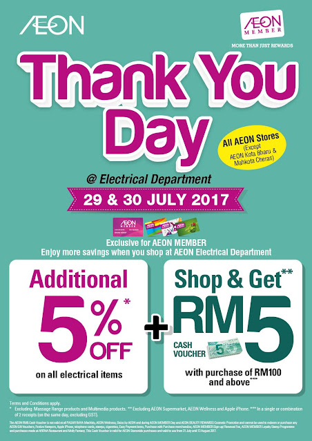 AEON Member Thank You Day Electrical Department