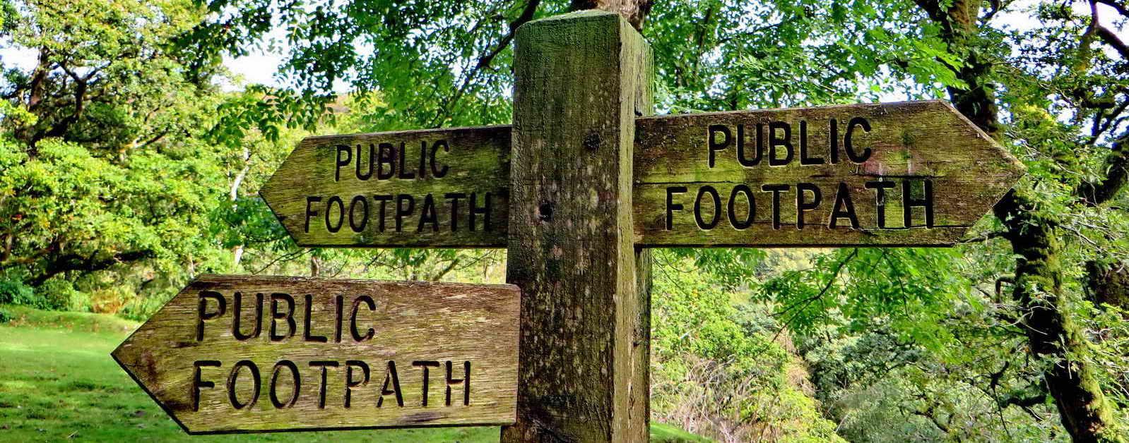 Public footpath signs