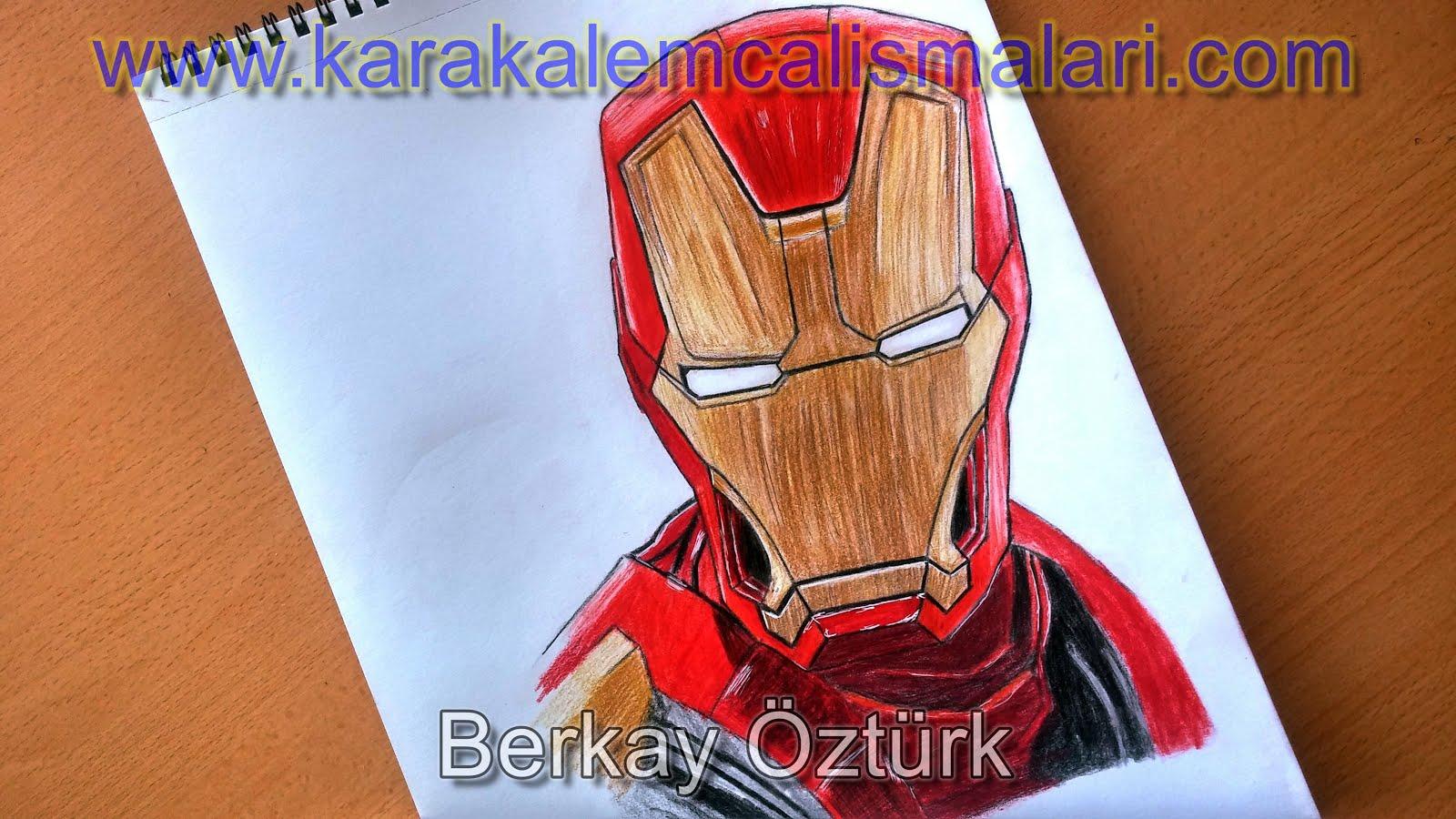 Iron Man Tony Stark Nasıl çizilir Adım Adım Demir Adam çizimi