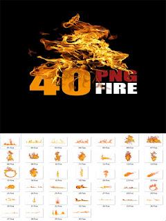40 صورة png بتقنية النار gift