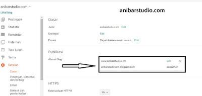 Cara mudah dan lengkap menghubungkan domain TLD ke blogspot - TERBARU | anibarstudio.com