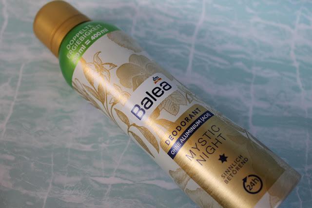 Balea Deodorant 'Mystic Night' mit doppelter Ergiebigkeit - goldfarbene und handliche Dose