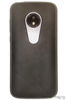 Photograph of a smart phone cellular phone in a black case by Cramer Imaging