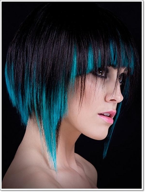 Moderne Kurzhaarfrisuren Mit Strahnchen Mittellange Haare