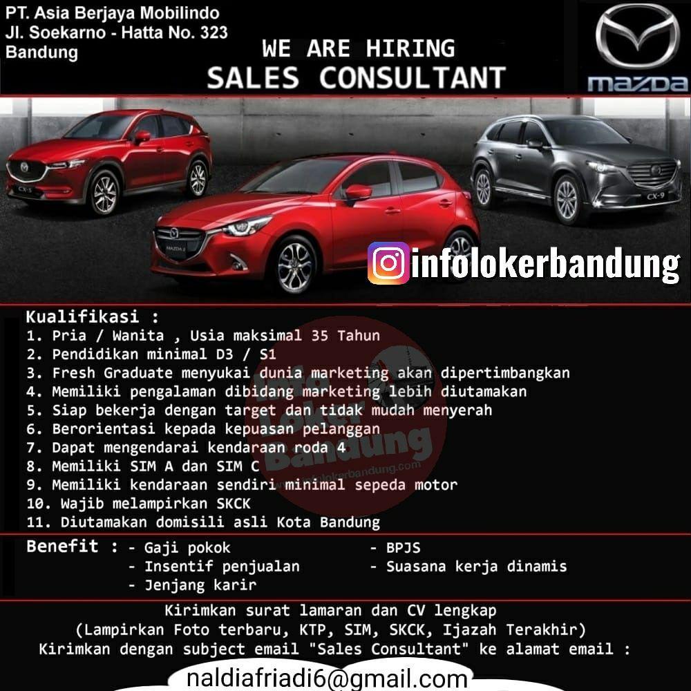 Lowongan Kerja PT. Asia Berjaya Mobilindo ( Mazda Mobile ) Bandung Oktober 2019