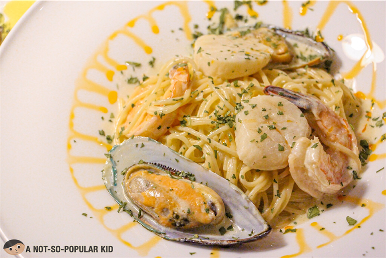 Seafood Pasta on Truffle Sauce, Bistro Manuel