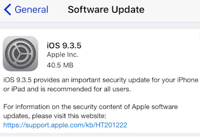 iOS 9.3.5 IPSW Direct Link for All