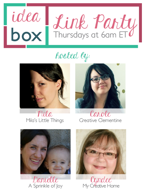 Idea Box Link Party: Week 66 on CreativeClementine.com
