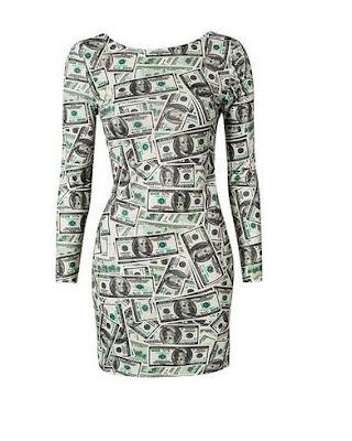 Dollar Print Dress