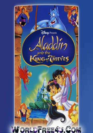 Poster Of Free Download Aladdin and the King of Thieves 1996 300MB Full Movie Hindi Dubbed 720P Bluray HD HEVC Small Size Pc Movie Only At worldfree4u.com