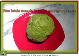 Vie quotidienne de FLaure: Pâte brisée à la farine aux légumes verts