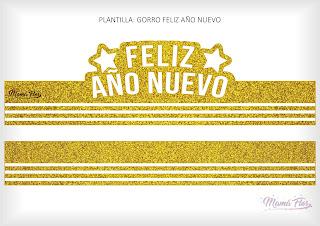 Gorro Feliz Año Nuevo Dorado