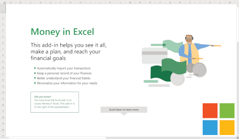 Microsoft Money in Excel
