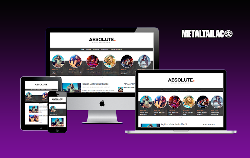 Absolute Responsive Blogger Template Premium Version - Responsive Blogger Template