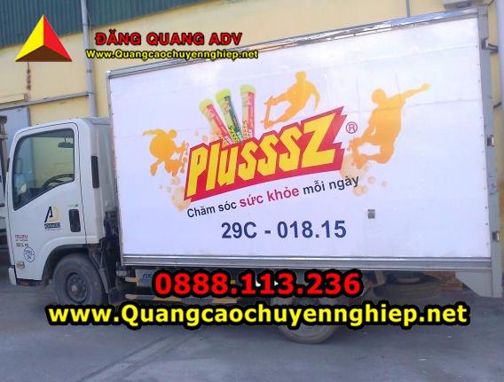 Quảng cáo trên 2 bên thùng xe tải