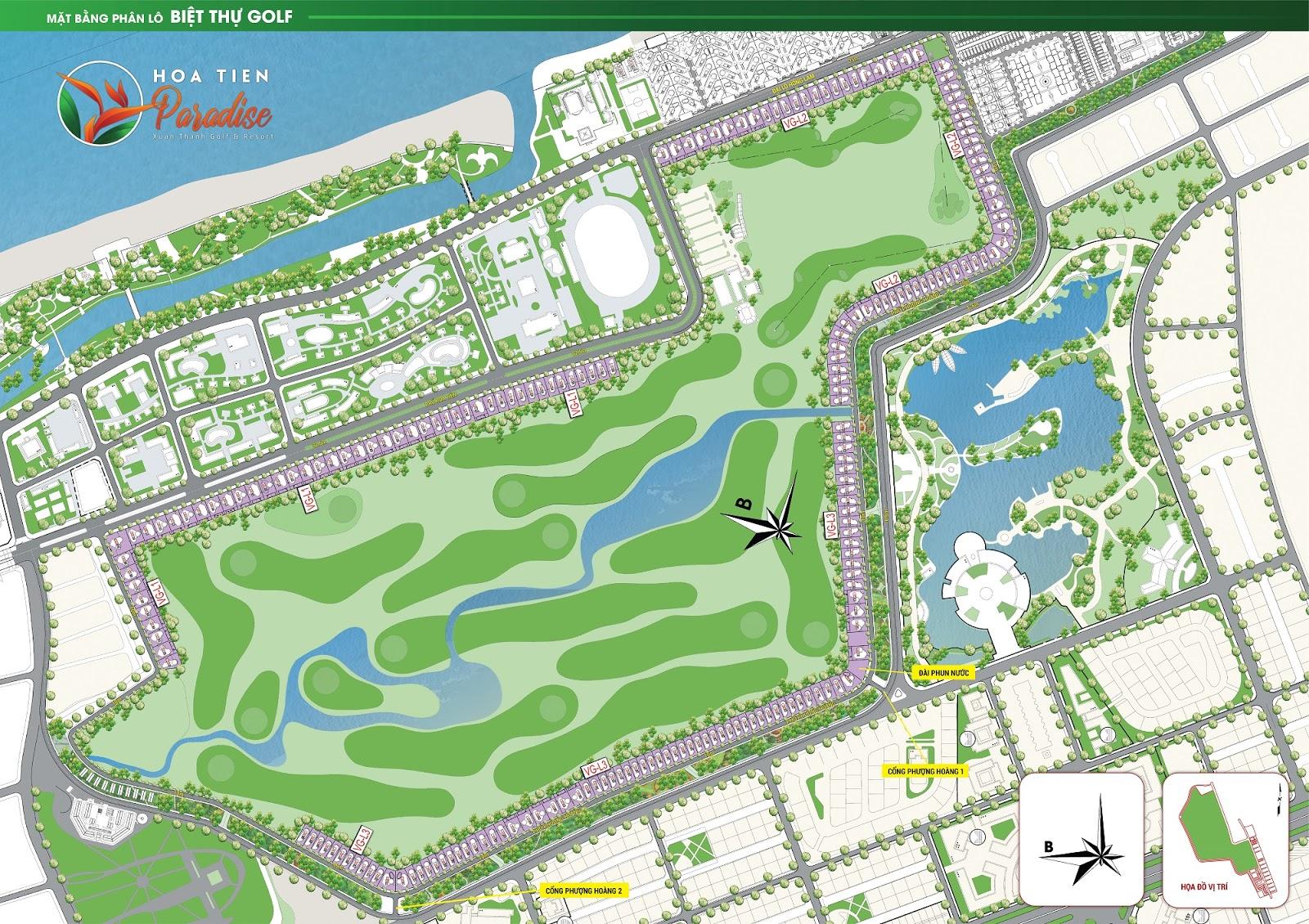 Mặt bằng phân lô biệt thự Golf