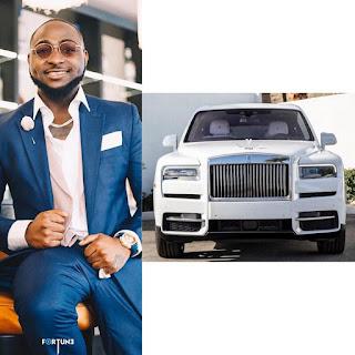 Davido shows off his New Rolls Royce Cullinan 2019