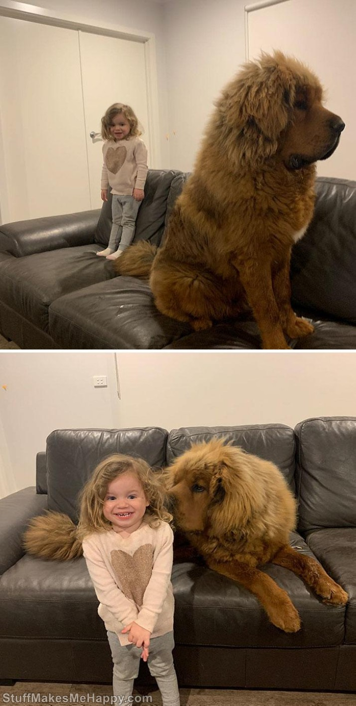 3. Baby and her big friend -
