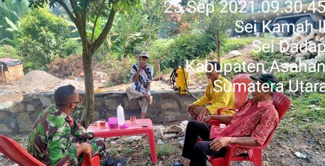Komsos Jalannya Personel Jajaran Kodim 0208/Asahan Jalin Silaturahmi Dengan Warga Masyarakat Desa Binaan