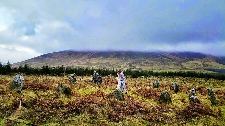 Boleykarrigeen Stones, Ireland - Acrobat Couple Gets Married In 38 Different Places Around The World In 83 Days