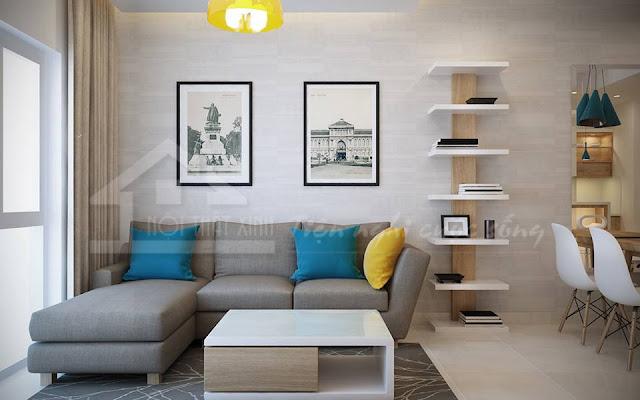 Bộ ghế sofa là điểm nhấn của phòng khách